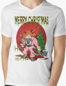Merry Zombie Christmas Mens V-Neck T-Shirt