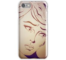 retro sad girl iPhone Case/Skin