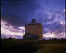 Silo's next to the railway at Boggabri by mewalsh