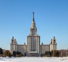 Moscow State University in the Snow by pixog