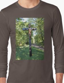 Crucifix with Jesus Long Sleeve T-Shirt