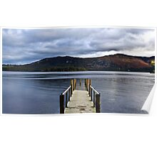 Lonely Jetty on Derwent Water Poster