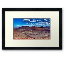 Martian Ground or Lanzarote? Framed Print