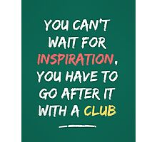 Go After Inspiration With A Club Photographic Print