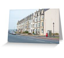 Seafront houses in Morecambe Greeting Card