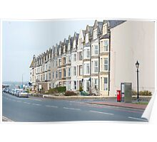 Seafront houses in Morecambe Poster