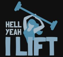 Hell YEAH ! I lift! with woman by jazzydevil