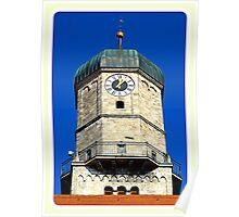 Stadtpfarrkirche Weilheim ~ Clocktower Poster