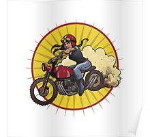 Moto Grrrrl Poster