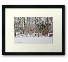 Snow on the fence  Framed Print