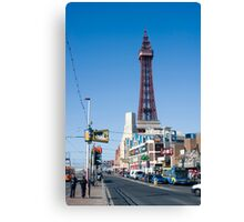 Blackpool Tower and Promenade Canvas Print