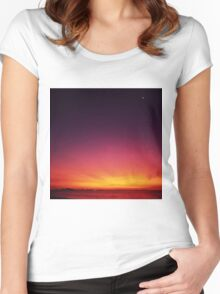 Beautiful Start To The Day Women's Fitted Scoop T-Shirt