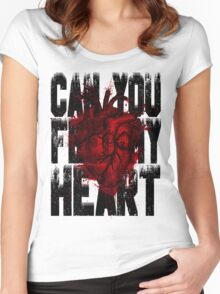 Feel my heart Women's Fitted Scoop T-Shirt