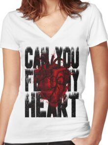 Feel my heart Women's Fitted V-Neck T-Shirt