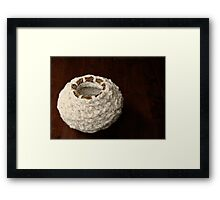 Within: Textile Art Vessel by Megan Walsh-Cheek Framed Print