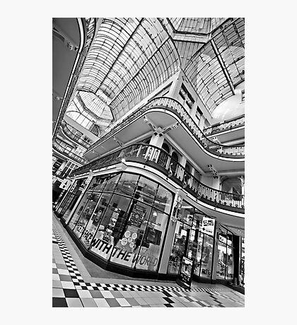 Barton Arcade, Manchester (B&W) Photographic Print