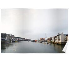 Lower harbour of Whitby Poster