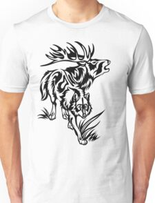 Wolf and Elk Unisex T-Shirt