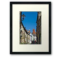 Pedestrians climbing Kings Street Framed Print