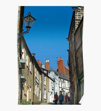Pedestrians climbing Kings Street Poster