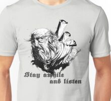 stay awhile and listen Unisex T-Shirt