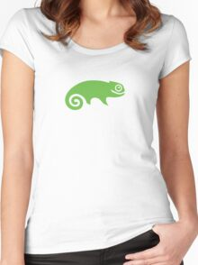 Suse Chameleon Logo Women's Fitted Scoop T-Shirt
