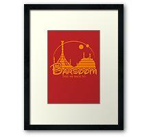 Take me back to Barsoom Framed Print
