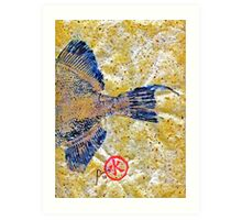 Gyotaku - Triggerfish - Oldwench -  Diptych 2  Art Print