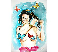 """Frida...""""Feet, what do I need you for when I have wings to fly?"""" Photographic Print"""