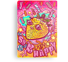 Happy Strawbie Metal Print