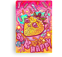 Happy Strawbie Canvas Print