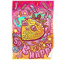 Happy Strawbie Poster
