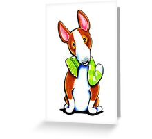Red Bull Terrier Lets Play Greeting Card