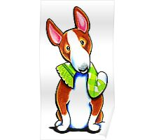 Red Bull Terrier Lets Play Poster