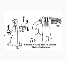 Human & Hairy Man Pictographs by SquatchCentral