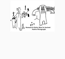 Human & Hairy Man Pictographs T-Shirt
