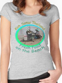 Thai Beach Food Women's Fitted Scoop T-Shirt