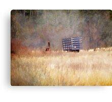 Forgotten Farm Equipment Canvas Print
