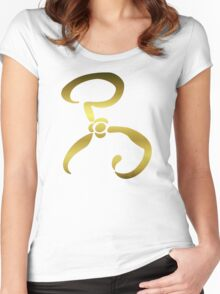The Yellow Sign Carcosa Women's Fitted Scoop T-Shirt