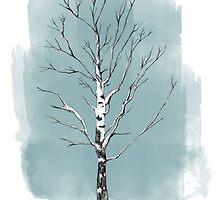 Lone birch by randoms