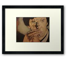 Drunk Sherlock Gets Emotional Framed Print