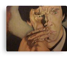 Drunk Sherlock Gets Emotional Canvas Print
