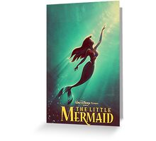 The Little Mermaid Movie Poster Greeting Card