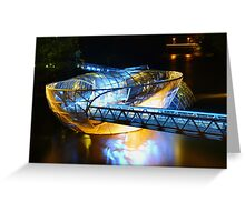 Artificial floating platform in Graz Austria Greeting Card