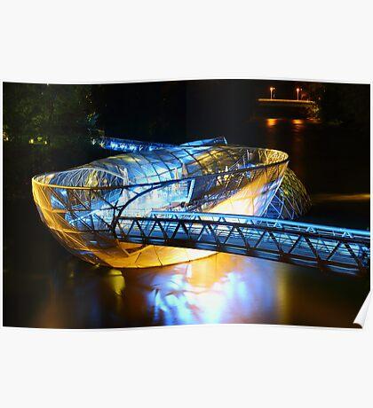 Artificial floating platform in Graz Austria Poster