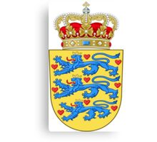 Coat of Arms of Denmark Canvas Print