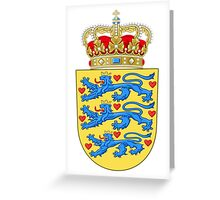 Coat of Arms of Denmark Greeting Card