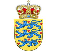 Coat of Arms of Denmark Photographic Print