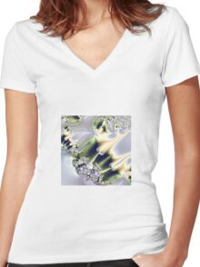On Gossamer Wings the Faeries Fly Women's Fitted V-Neck T-Shirt
