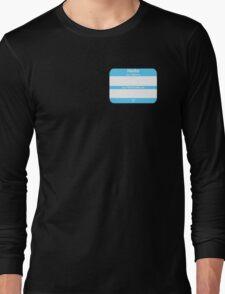 Hello, My PRONOUNS Are (Transmale Blue) Long Sleeve T-Shirt
